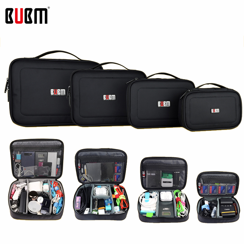 BUBM bag for electronic accessories digital receiving bag  power bank XL  L M S 3 4  pcs a set Portable Travel bag Organizer