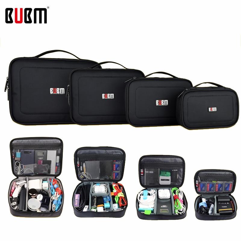 BUBM Bag For Electronic Accessories Digital Receiving Bag  Power Bank XL  L M S 3 4  Pcs A Set Portable Travel Bag Organizer