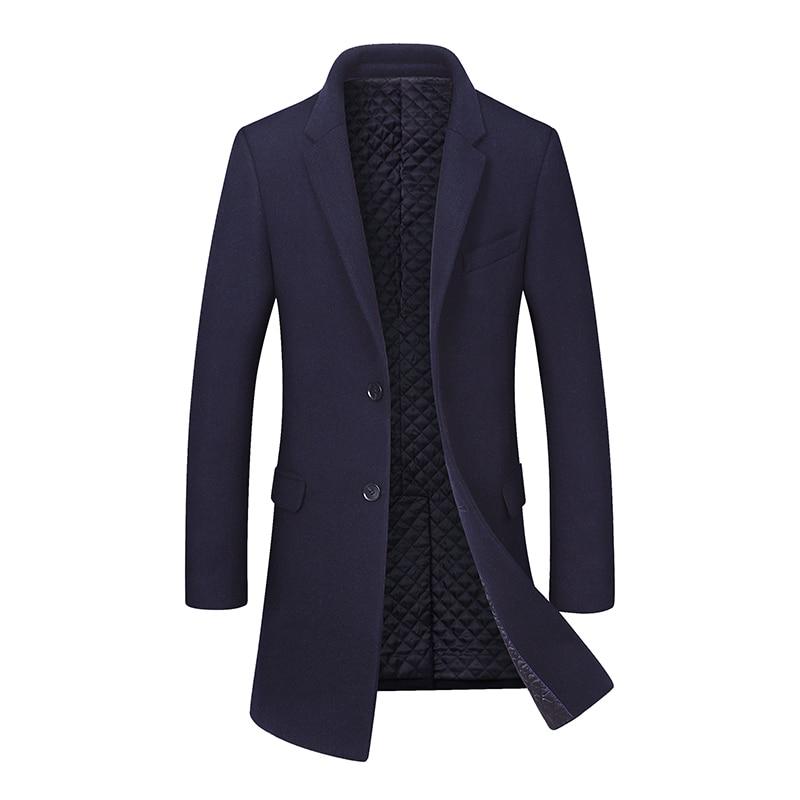 Veste Peacoat D'affaires Blue Mince Pardessus Long Manteau gray red Black Masculine Hiver Épaissir Wine 2018 À Laine navy Marque Vêtements Mode De Occasionnel Hommes xZOZwS1q0P