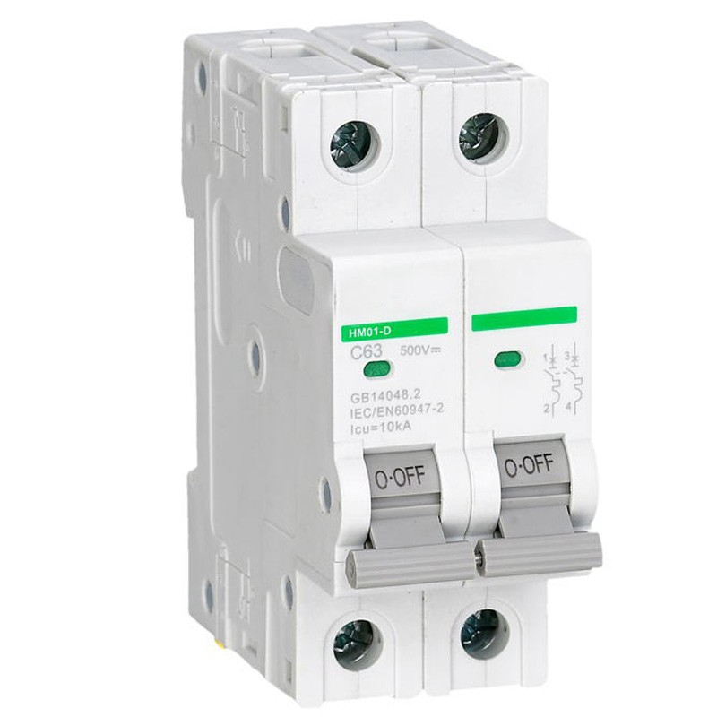 все цены на 2P 500V DC 63A Miniature circuit breakers for solar generation non polarized circuit breaker with TUV certificate онлайн