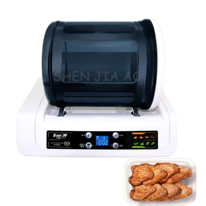 220V 20W 1PC Commercial rolling vacuum marinated machine KA-6189A electric vacuum marinated chicken / bacon machine 7l electric vacuum food pickling machine household 2018 vacuum food marinated machine commercial meat fried chicken marinator