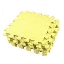 9x yellow EVA puzzle mat Protective mat Fitness mat Floor mat 28 x 28 x 0.8 cm цена и фото