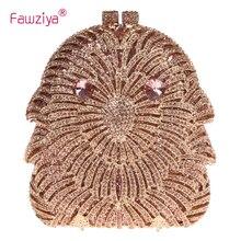Fawziya Rosa Tasche Geldbörsen Mit Eulen Kristall Kupplungen Für Damen Abendtaschen