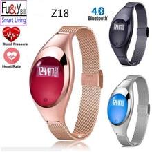 Фу и Y Билл Модные женские Z18 Смарт часы браслет с кровью Давление монитор сердечного ритма шагомер фитнес-трекер FO Android IOS