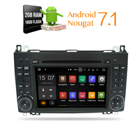 Android 7.1 Auto DVD GPS Voor Mercedes Benz Sprinter B200 W209 W169 W169 B-klasse W245 B170 Vito W639 dvd-speler RAM 2G Flash 16g