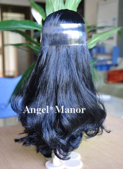 scalp with hair for Blyth, not doll, nature black  hair, , For Girl's Gift TP0019