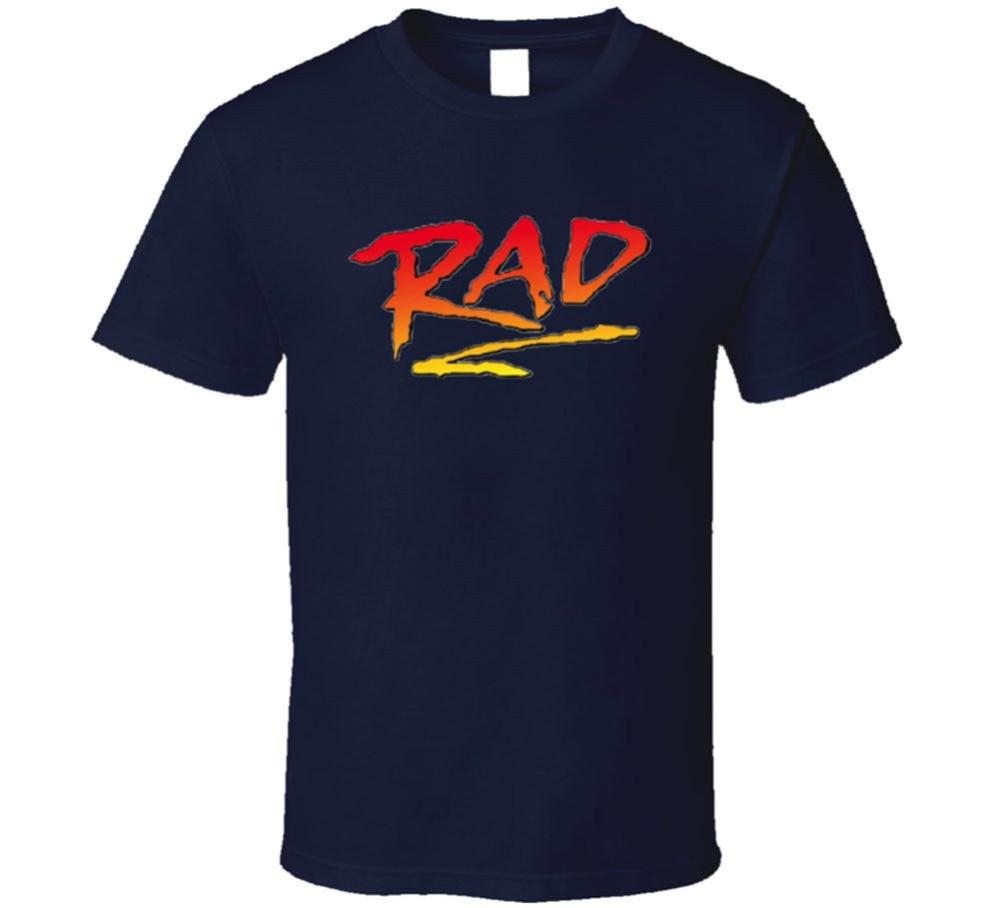 Gildan Rad T Shirt Supercool Retro 80s Bmx Movie Freestyle Biker Racinger cotton Sleeve