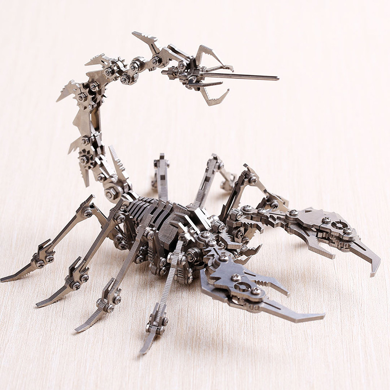 Robot Insect Scorpion 3D Steel Metal Finished DIY Joint Mobility Miniature Model Kits Puzzle Toys Boy Splicing Hobby Building