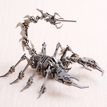 Scorpion 3D Steel Metal DIY Joint Mobility Miniature Model Kits Puzzle Toys Children Educational Boy Splicing Hobby Building