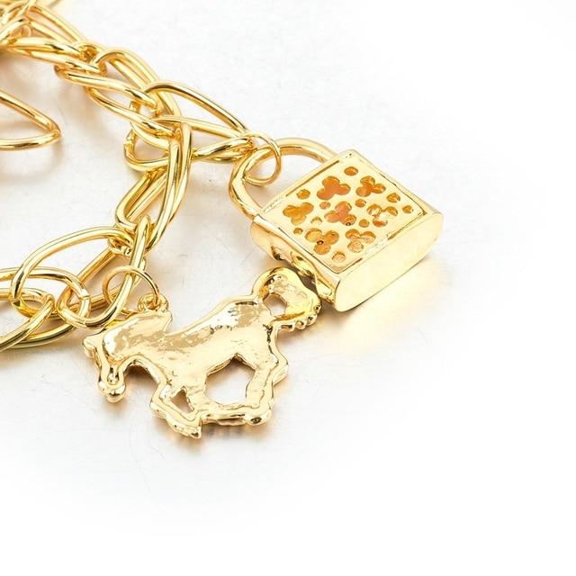 Фото chicvie золотая звезда брелок цепочка лошадь браслеты и для