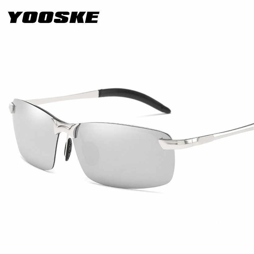 55f08c5129952 YOOSKE Polarized Sunglasses Men Rimless Driving Sun Glasses Male Brand  Designer Outdoor Driver s Glasses UV400 Shades