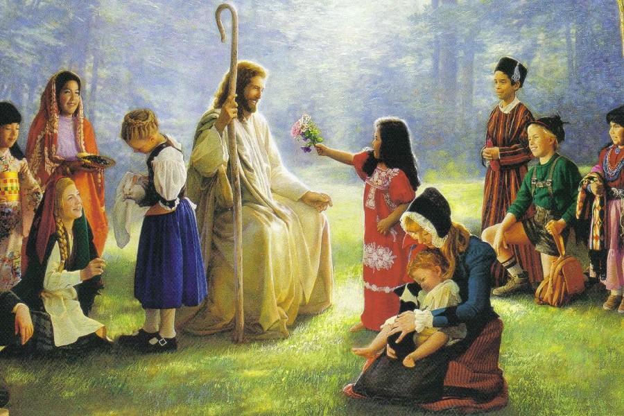 Картинка иисус с детьми
