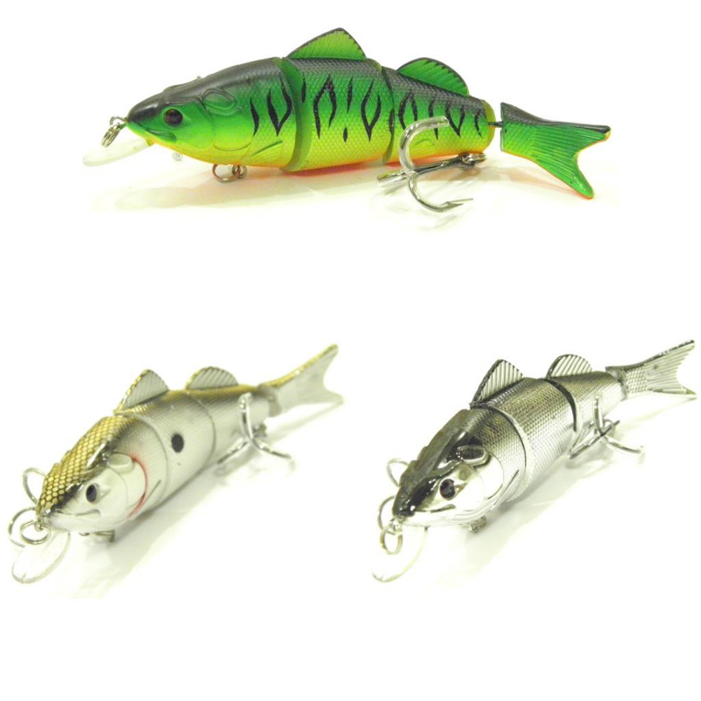 3PCS Fishing deep diving Swimbait section Lure Minnow casting trolling Lures bait hook 14cm/29g Free shipping