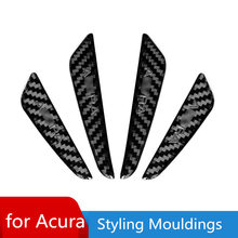 Carbon fiber body anti-collision rubbing strip for Acura RDX/MDX/CDX/TLX-L Styling Mouldings