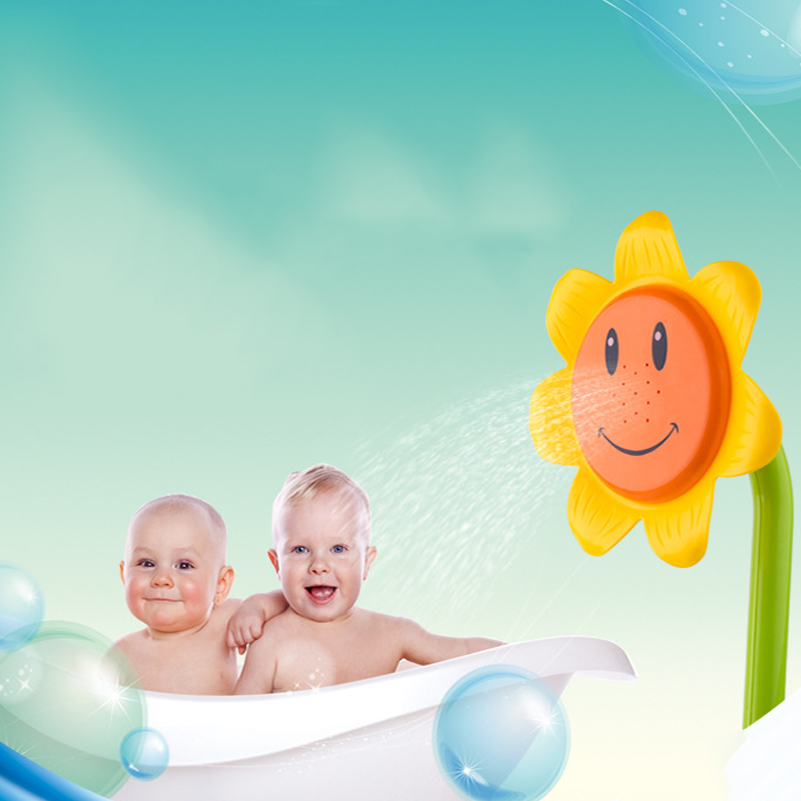 Baby Bath Toys Swimming Toys Sunflower Shower Faucet 0 12 Month ...