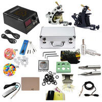 Professional Complete Tattoo Machine Kit ,Digital LCD Tattoo Power Supply Set Mini Tattoo Needle