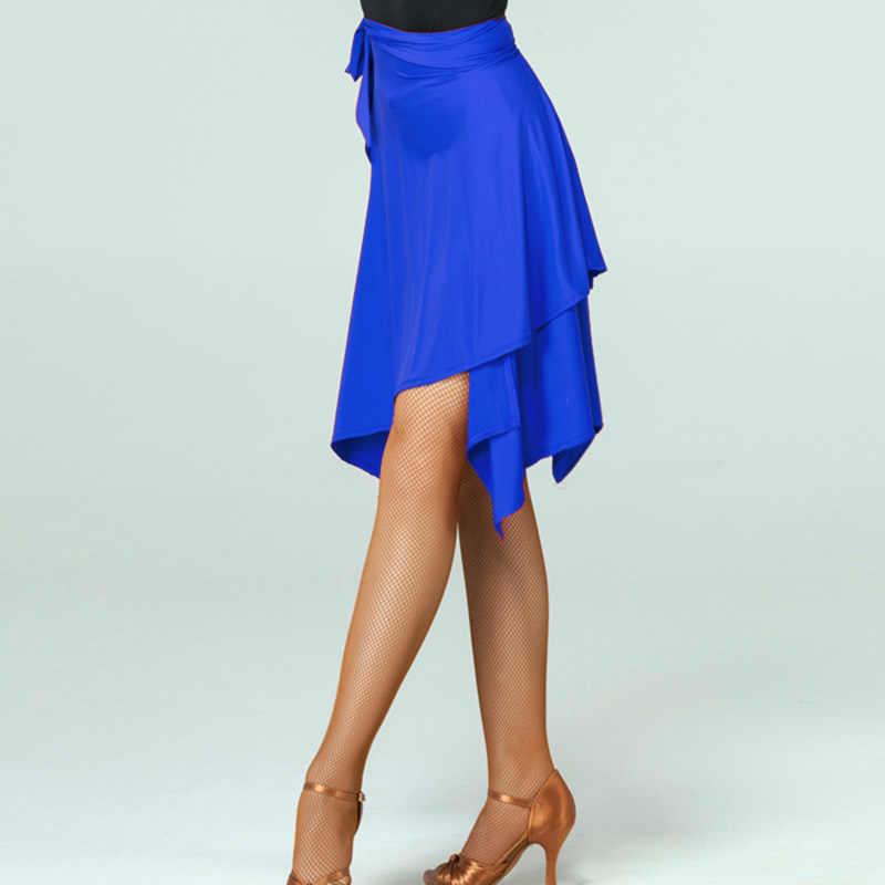 Многоцветная Женская юбка для латинских танцев для продажи Adlut Cha/Rumba/Samba/платья для танго для занятий танцами/Performamnce Dancewear