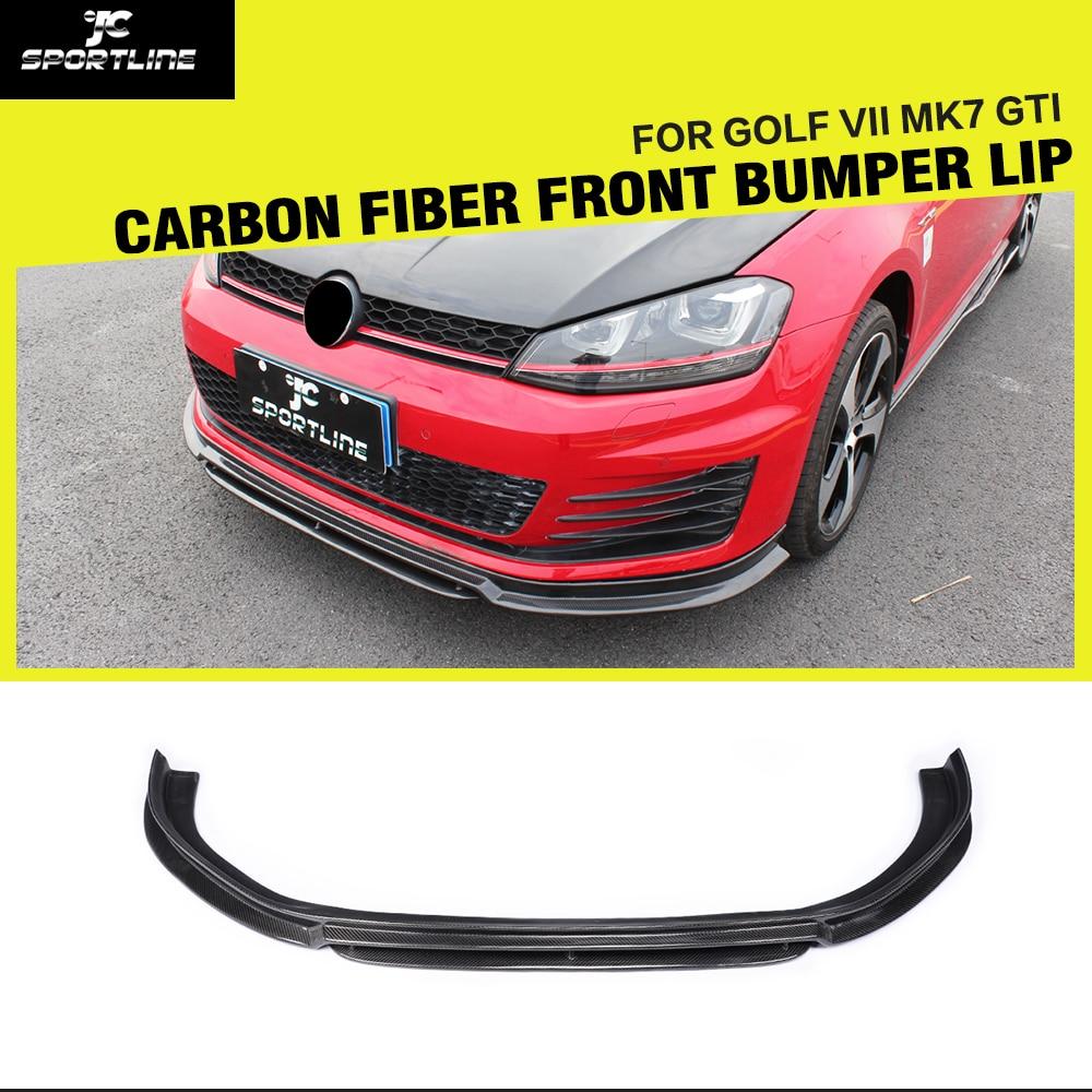 golf mk7 r styling carbon fiber car front lip splitter for. Black Bedroom Furniture Sets. Home Design Ideas
