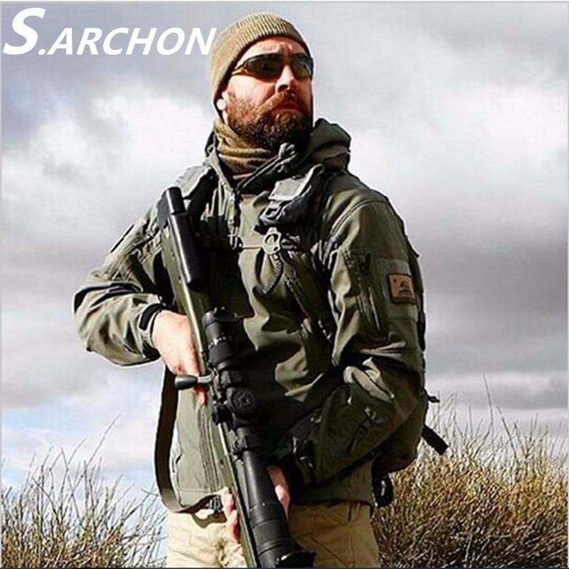 Brand Jacket V5.0 Military Tactical Men Jacket Lurker Shark Skin Soft Shell Waterproof Windproof Men Army Fleece Jacket Coat