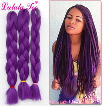 24inch Synthetic Jumbo Braids Hair 100g/Pack Crotchet Braiding Crochet Extensions Pure Color