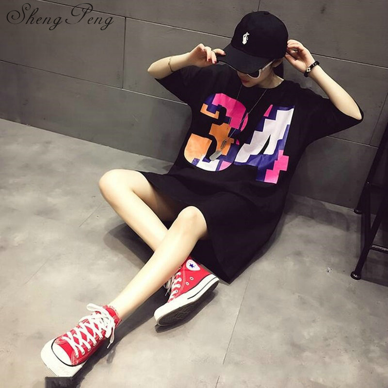 2018t shirt women female long harajuku shirt long sleeve women shirt summer style long cotton t shirt large size CC295 4