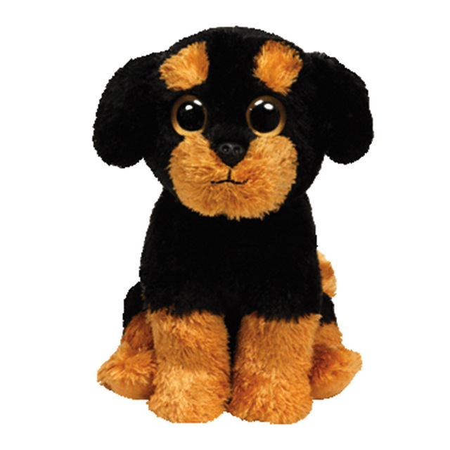 TY beanie babies Brutus P dog 15 cm Plush Toy Stuffed Animal Doll Soft Kids  Toy Christmas Gift Hot Sale the Rottweiler 996740a0c209