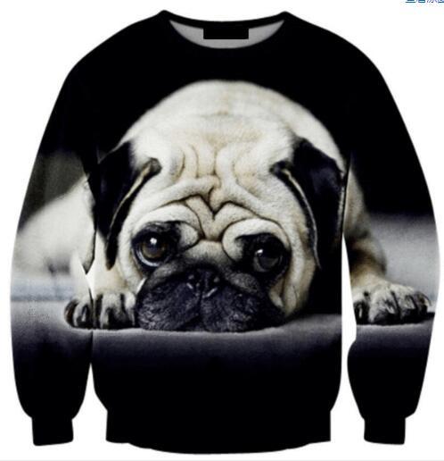 Women Men jumper outfits pullover Bulldog Animal Crewneck Sweatshirt Harajuku Tumblr Hoodies 3D Print Tops fashion Sweats