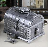 Egyptian large capacity two layers tin color metal jewelry box ring box metal tin box storage organizer for girl gift Z058