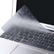 Mosiso водонепроницаемый силиконовый прозрачный чехол для клавиатуры Macbook Air Pro13 15 retina Touch Bar Mac Air13 11 Клавиатура для ноутбука пленка 2018