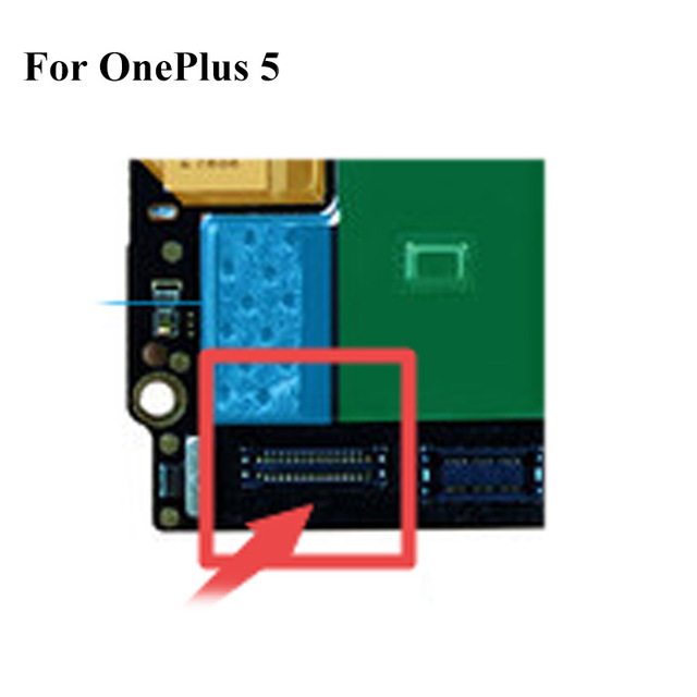 2PCS Dock Connector Micro USB Charging Port FPC Connector For Oneplus 5 Onplus5 Logic  On Motherboard Mainboard  For One Plus 5