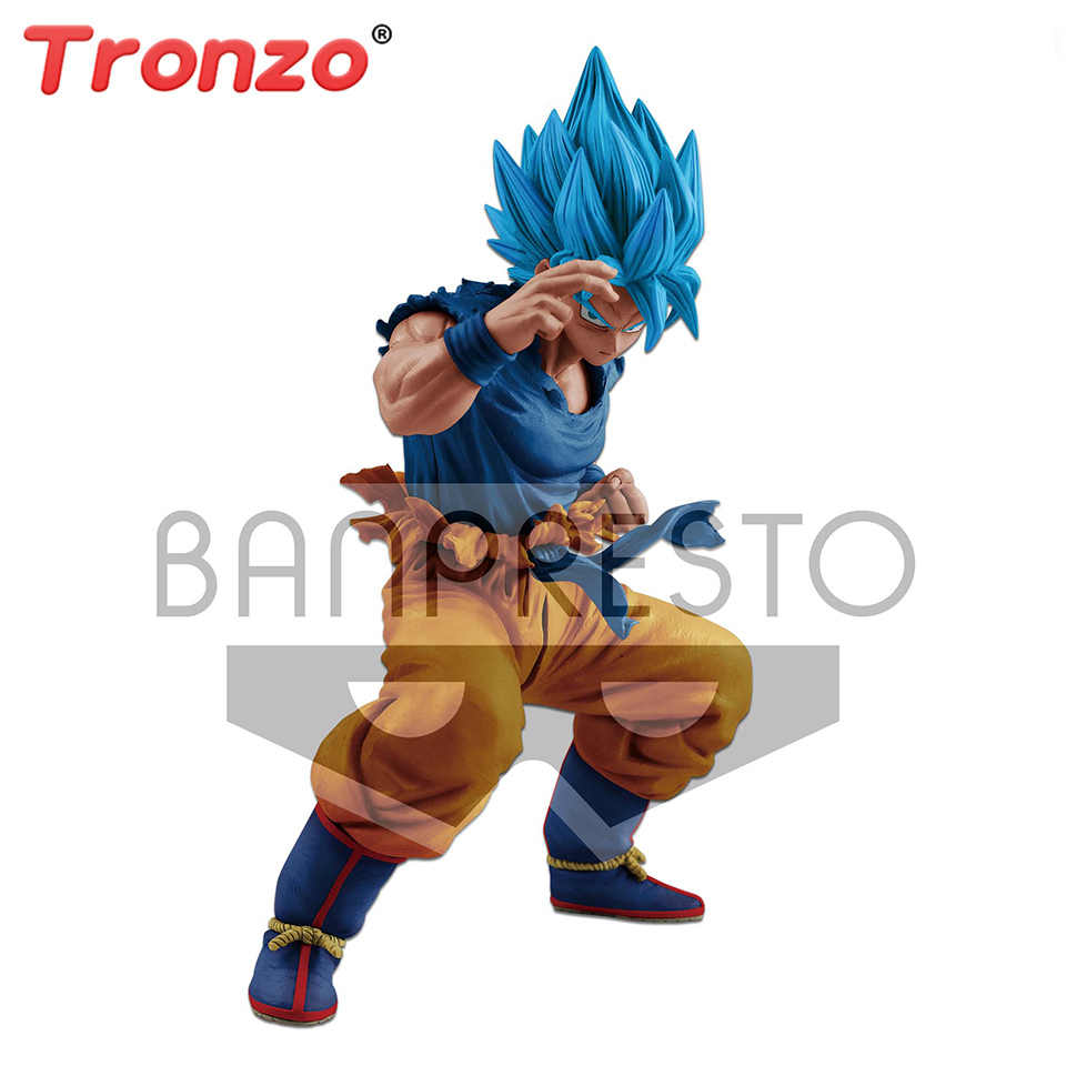 Tronzo Original Banpresto Figura Dragon Ball Super Modelos Figura de Ação Goku Dragon Ball Figura 20th Anniversary Limited Stock