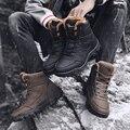 YRRFUOT мужские туристические ботинки  водонепроницаемые уличные кроссовки  теплая зимняя спортивная обувь с высоким берцем  тактические воен...