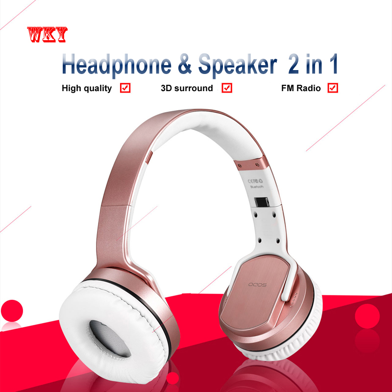 WKY Bluetooth 4.2 Headphones HD Stereo NFC Headset Wireless Active Noise Cancelling Headset with Mic For Phone Support TF Card