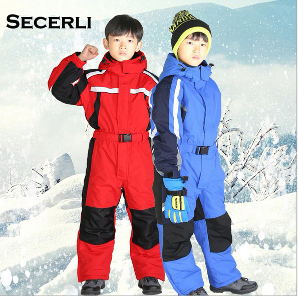 Winter Kids Girls Boys Ski Suit Set Waterproof Children SnowSuit 2T 4T 6T Children Romper Overall Windproof Jumpsuit