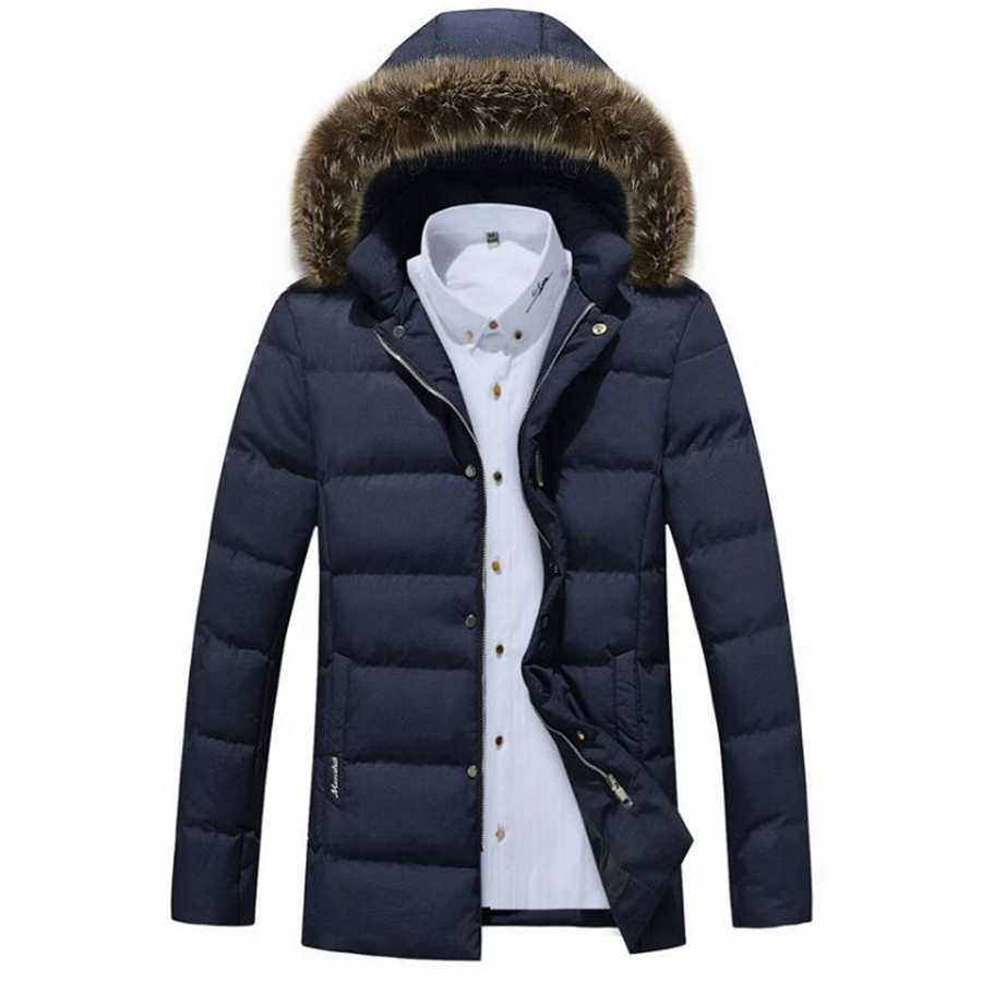 ФОТО many styles Men cotton Down Jacket Casual Solid Collar Winter Jacket Men big size Overcoat Outwear cotton