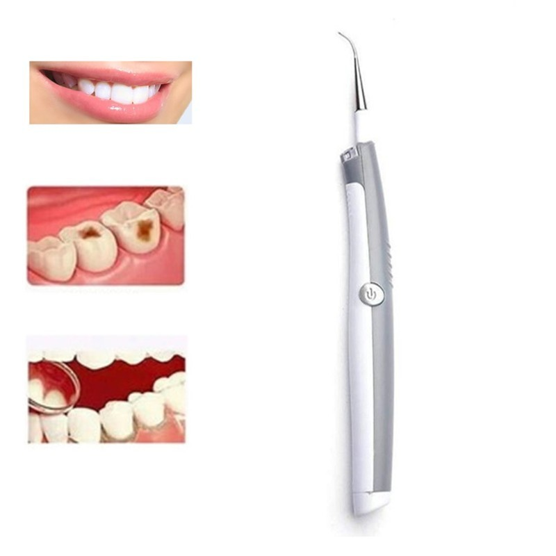 Shock Go Tooth Stone Sonic Electric Tooth Stain Eraser Tool Dental Plaque Remover Teeth Whitening Cleaning Dental Scaler