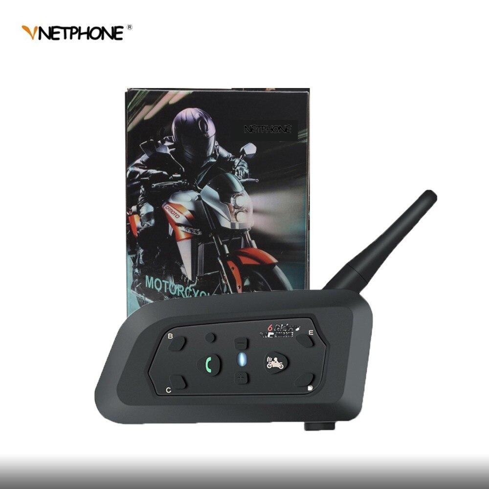 QPLOVE VnetPhone 1 set V6 Bluetooth Interphone Moto casque accessoires haut-parleur 1200 m Interphone casque Support sans fil