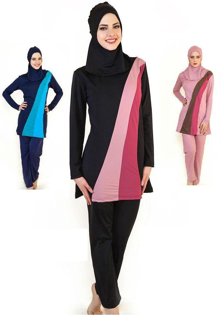 Modesty Women Swimwear Muslim Full Cover Arab Swimsuit Islamic Burkini Swimming