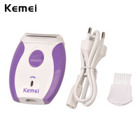 Kemei depilatory women epilator electric shaver bikini shaving razor hair removal trimmer face body underarms leg.jpg 200x200
