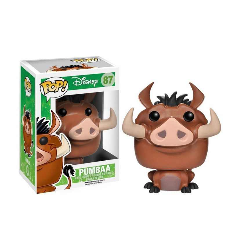 Funko POP official Cartoon The Lion King -Pumbaa Vinyl Action & Toy Figures Collectible Model Toys for Children