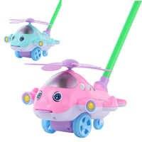 Baby Walker Spielzeug Hand Push Flugzeug Flugzeug Outdoor Sport Kleinkind Pull Spaziergänge Stange Push Warenkorb Drag Zunge Heraus Walking Pädagogisches spielzeug