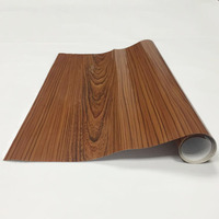 48.8x39.37/1.24x1m High Glossy Wood Grain Textured Vinyl Wrap Contact Paper Film for Home Office Furniture Car Interior DIY