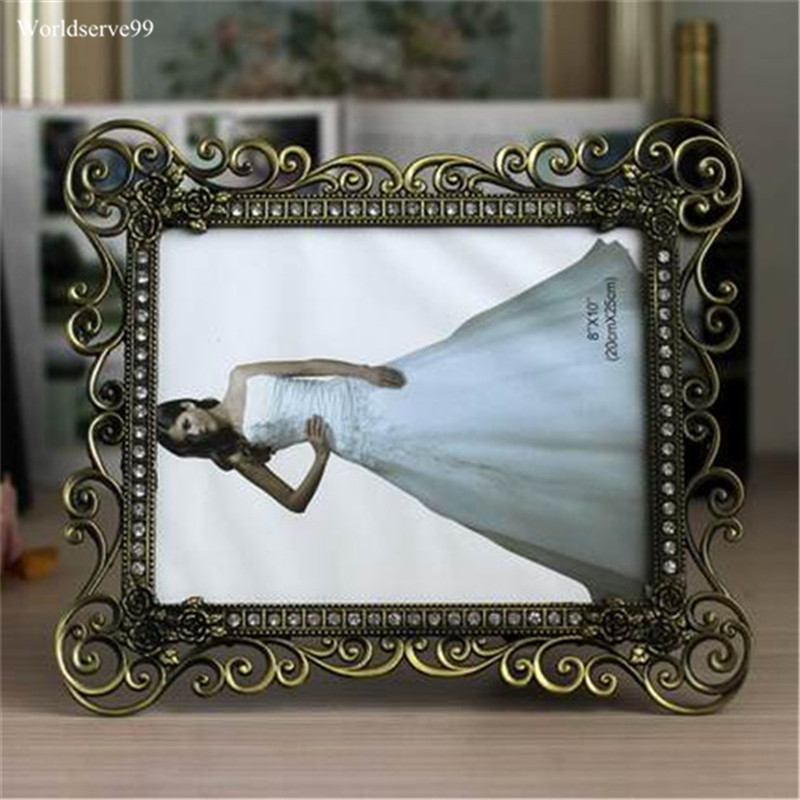 7inch 10inch Vintage Bronze Photo Frames Metal Alloy Picture Frame ...
