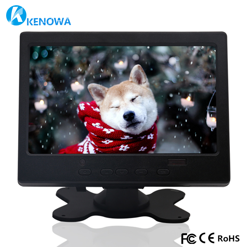 7 inch industrial LCD 1024x600 IPS monitor HDMI HD AV VGA input screen computer monitor Car Backup Reverse LED display ps3/4 10 4 inch 4 3 industrial security surveillance monitor pc lcd computer screen display with vga av usb hdmi tv interface