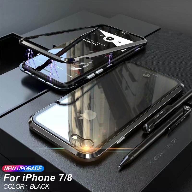 Strong Magnetic Adsorption Case For iPhone X 8 Magnet Case