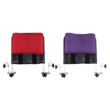 Cojín de apoyo para el cuello del reposacabezas de la silla de ruedas, ajustable para cualquier silla de ruedas de 16 pulgadas a 20 pulgadas con tubo de mango trasero