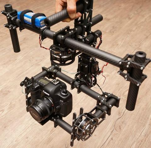 DSLR 3 axes sans balais cardan/poignée caméra carbone monture 5208-180 T moteur