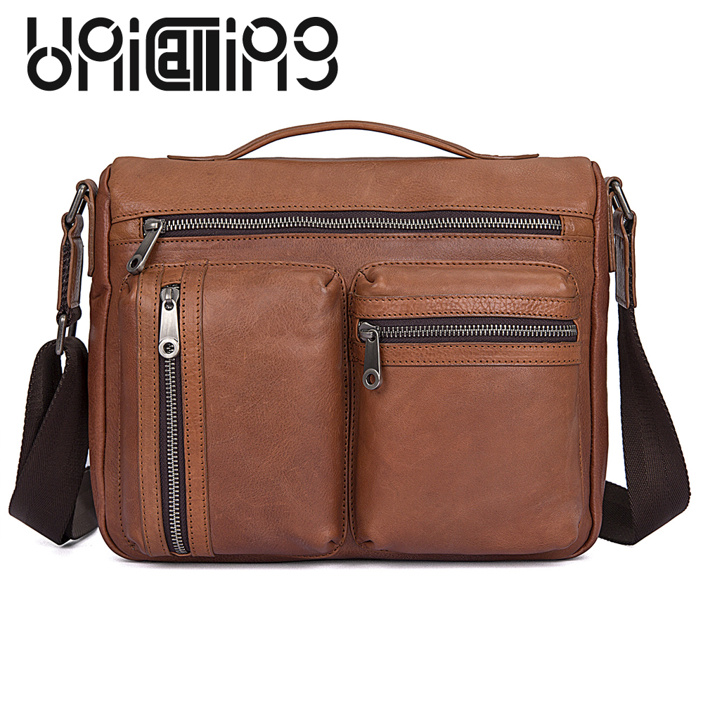 UniCalling New style Genuine Leather men handbag large capacity handiness messenger bag men leather Zipper Fashion men bag UniCalling New style Genuine Leather men handbag large capacity handiness messenger bag men leather Zipper Fashion men bag