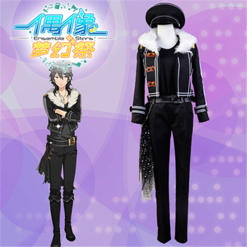 Anime Ensemble Stars Undead Cosplay Costume coat+trousers+leather belt+hat+knitting shirt+waist decorations+Free Shipping  C