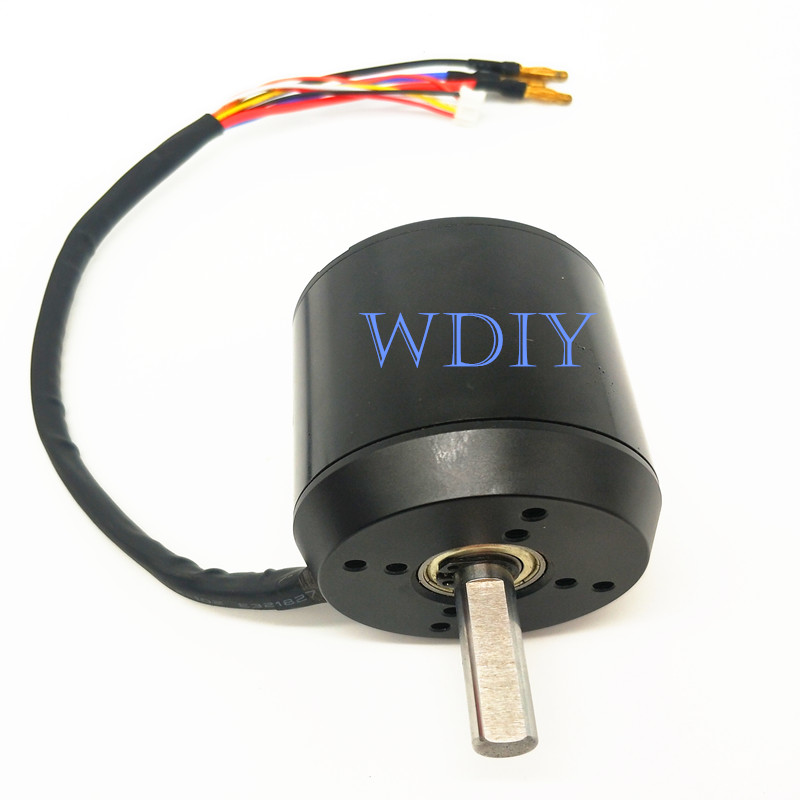 6374 <font><b>170KV</b></font> Brushless <font><b>Motor</b></font> With Hall Sensor 3000W Electric Off Road Skateboard Engine M10 <font><b>Motor</b></font> Shaft 36V image